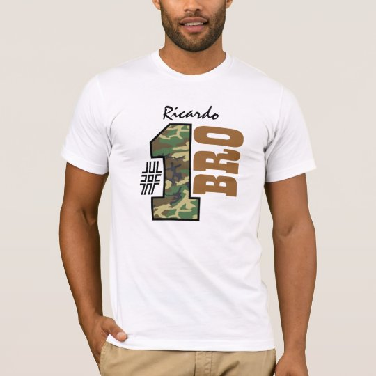 Number One BROTHER Camo Custom Name T-Shirt