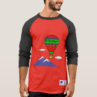 Number One Brother with Hot Air Balloon T-Shirt