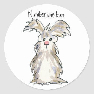 Number One Bun - Cartoon Rabbit Sticker
