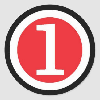NUMBER ONE CLASSIC ROUND STICKER