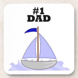 Number One Dad Beverage Coaster