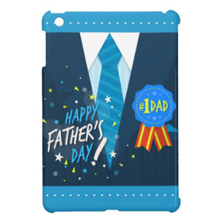 Number one dad blue badge tie suit father's day iPad mini cases