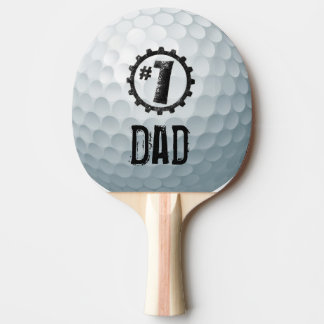 Number one Dad/Mom/Son... Personalized Golf Ball Ping-Pong Paddle