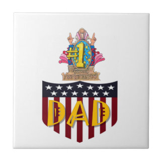 Number One Dad Tile