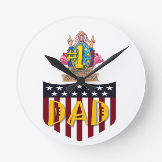 Number One Dad Wall Clocks