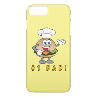 Number One Dad with Cheeseburger iPhone 7 Plus Case