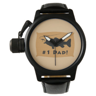 Number One Dad with Largemouth Bass Watch