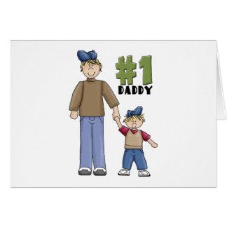 Number One Daddy Blond Boy Card