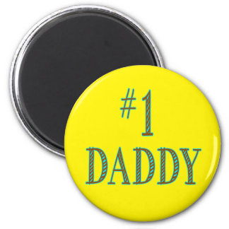 Number One Daddy 2 Inch Round Magnet
