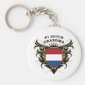 Number One Dutch Grandma Basic Round Button Keychain