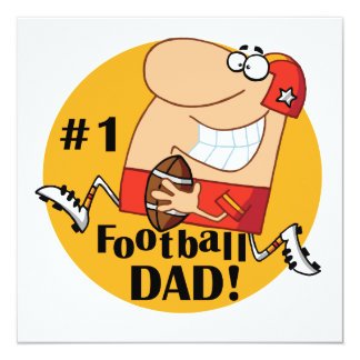 Number One Football Dad T-shirts and Gifts Personalized Invitations