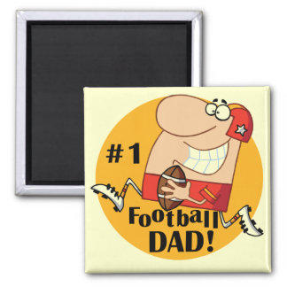 Number One Football Dad Tshirts and Gifts Refrigerator Magnet