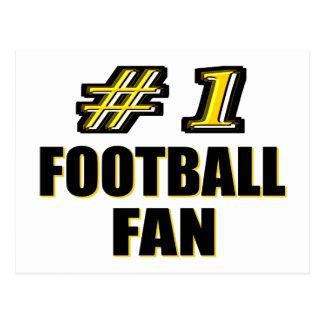Number One Football Fan Postcard