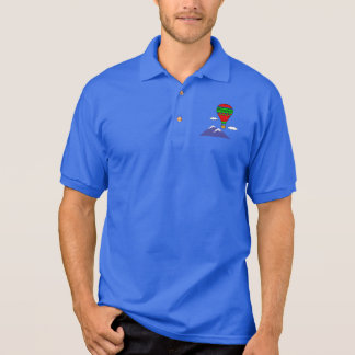 Number One Grandfather with Hot Air Balloon Polo Shirt