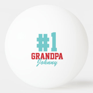 Number One Grandpa Christmas Photo Ping Pong Balls