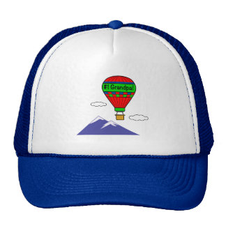 Number One Grandpa with Hot Air Balloon Trucker Hat