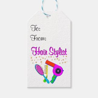 NUMBER ONE HAIR STYLIST AND BEAUTICIAN PACK OF GIFT TAGS