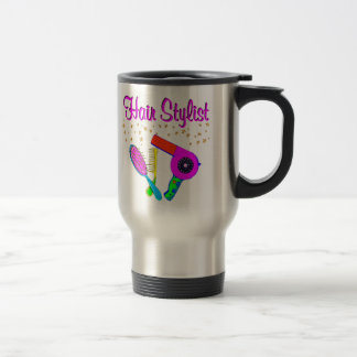 NUMBER ONE HAIR STYLIST AND BEAUTICIAN TRAVEL MUG