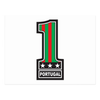 Number One in Portugal Postcard