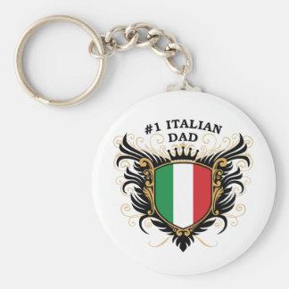 Number One Italian Dad Keychain