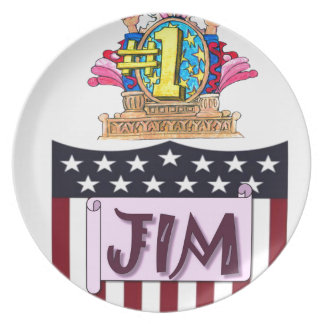 Number One Jim Plate