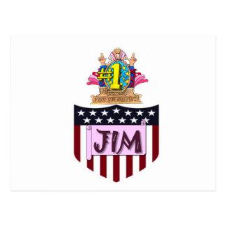 Number One Jim Postcard