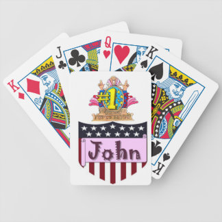 Number One John Bicycle Playing Cards