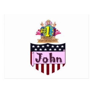 Number One John Postcard