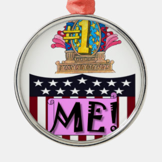 Number One Me Metal Ornament