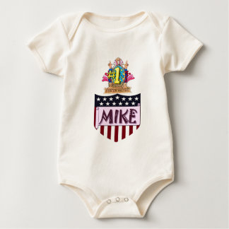 Number One Mike Baby Bodysuit