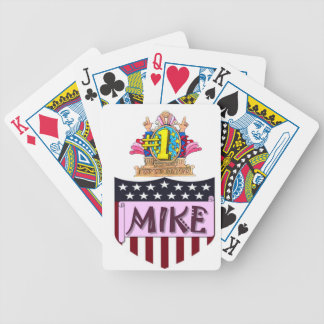 Number One Mike Bicycle Playing Cards