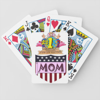 Number One Mom Bicycle Playing Cards