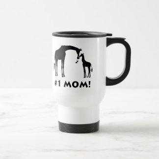 Number One Mom Giraffe with Baby Travel Mug