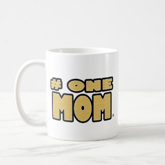 Number One Mom Gold Phrase Mugs