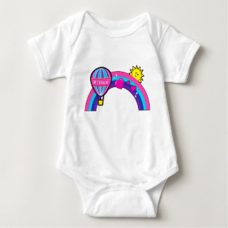 Number One Niece with Balloon and Rainbow Baby Bodysuit