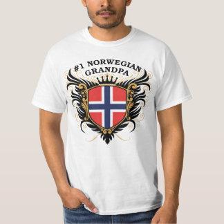 Number One Norwegian Grandpa T-Shirt