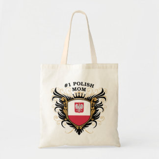 Number One Polish Mom Tote Bag