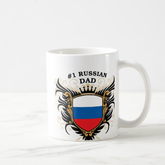 Number One Russian Dad Classic White Coffee Mug
