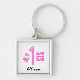 Number One Sister Custom Name Gift Item Keychain