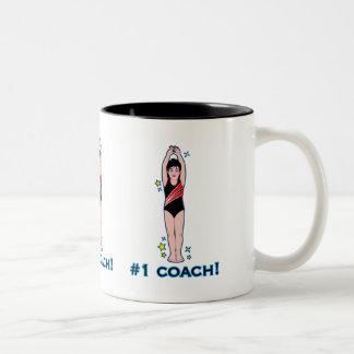 Number One Swimming Coach Two-Tone Coffee Mug