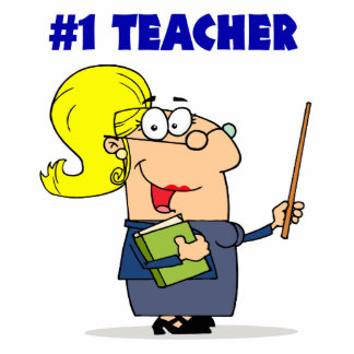 number one teacher cartoon graphic acrylic cut out