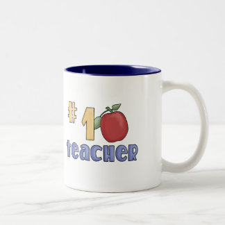 Number One Teacher Two-Tone Coffee Mug