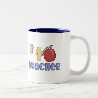 Number One Teacher Two-Tone Mug