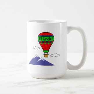 Number One Uncle with Hot Air Balloon Coffee Mug