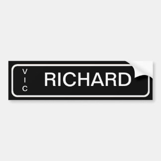 Number Plate Bedroom Door Labels Bumper Sticker