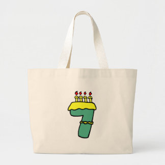 Number Seven 7th Birthday Gifts Canvas Bag
