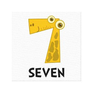 Number Seven Canvas Prints