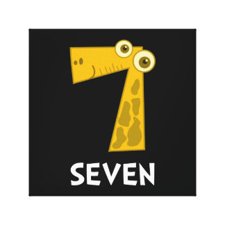 Number Seven Stretched Canvas Print