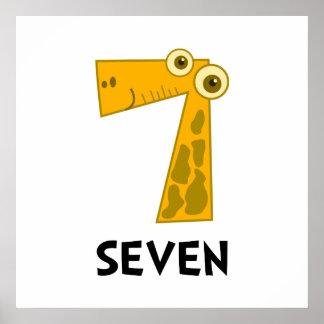 Number Seven Poster