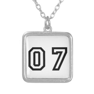 Number Seven Silver Plated Necklace